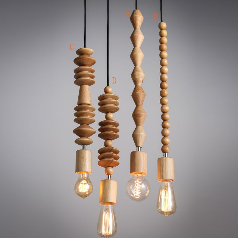 Lighting Ceiling Lights Pendant Lights American Country Style Wooden Pendant Light 4 Design Wood Pendant Light Wooden Pendant Lighting Wood Pendant Lamps