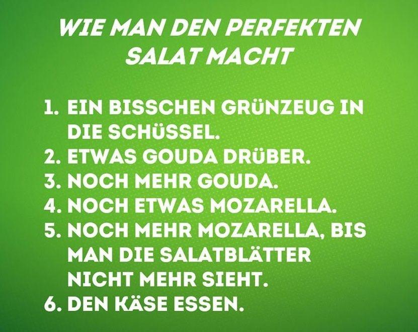 #der perfekte salat