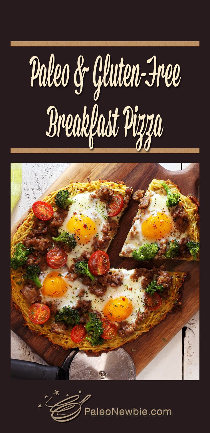 Paleo and Gluten-Free Breakfast Pizza #glutenfreebreakfasts