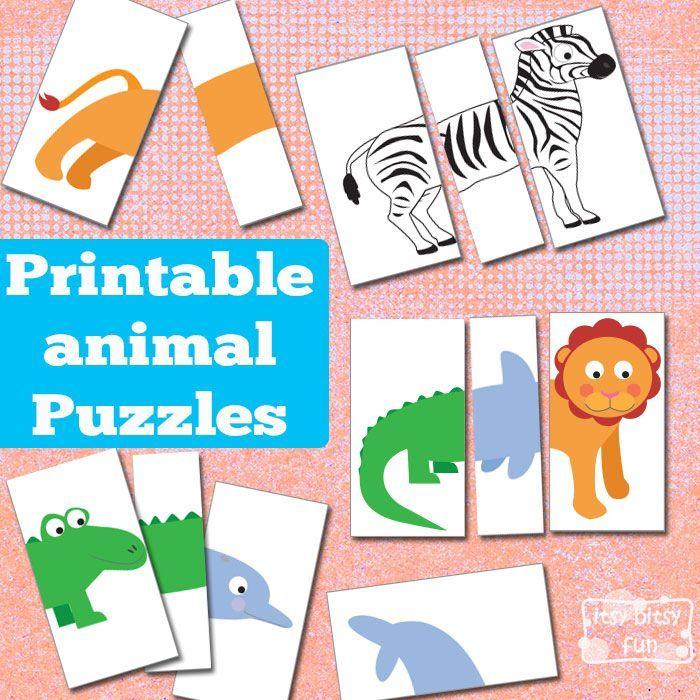Printable Animal Puzzles {Busy Bag | Pinterest | Busy bags, Animal ...