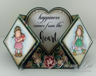 From My Craft Room Happiness Comes From The Heart Magnolia Licious May Mini Magnolias Fancy Fold Cards Fun Fold Cards Magnolia Stamps