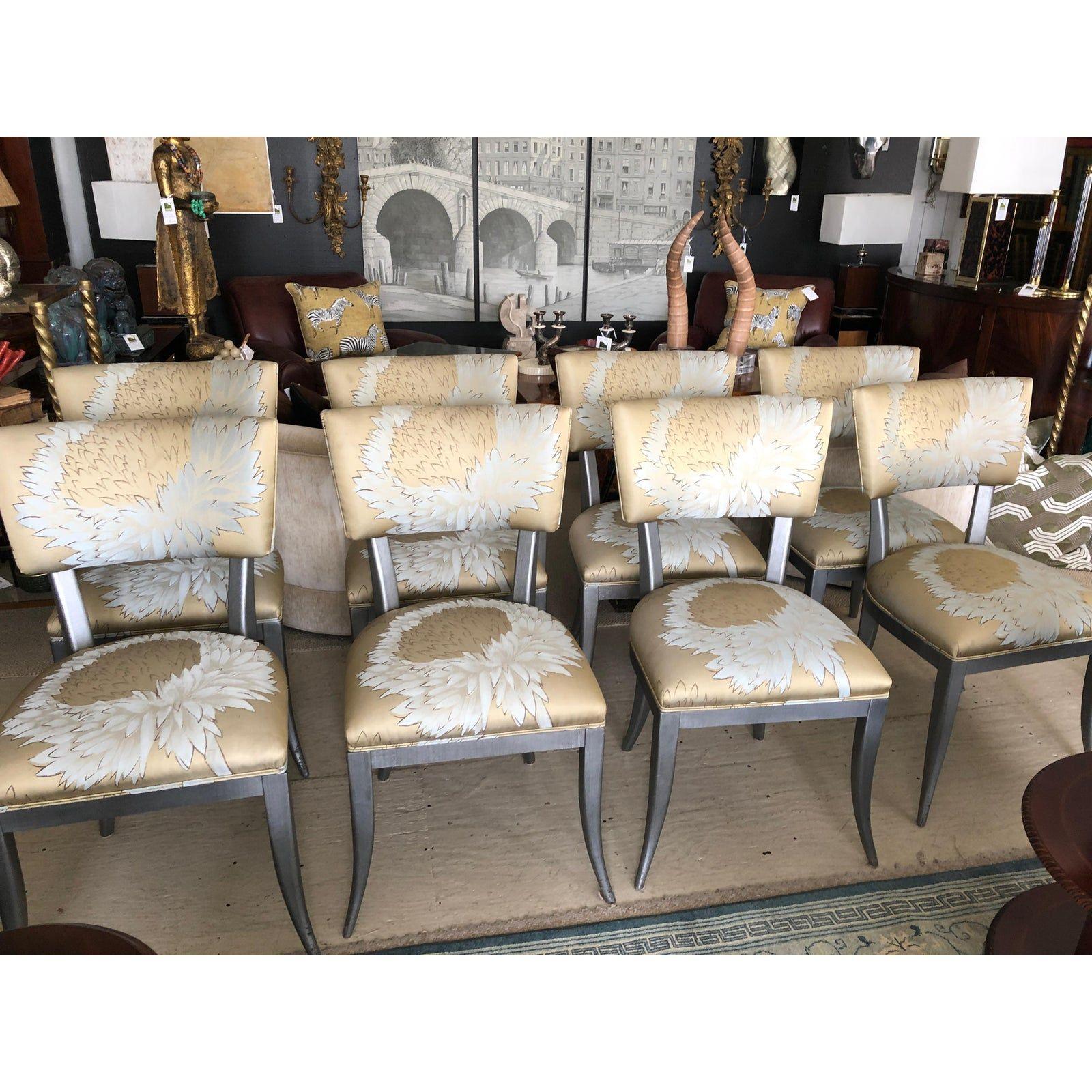 Custom Klismos Dining Chairs Set Of 8 Chairish Dining Chairs Klismos Dining Chair Chair Set of 8 dining chairs