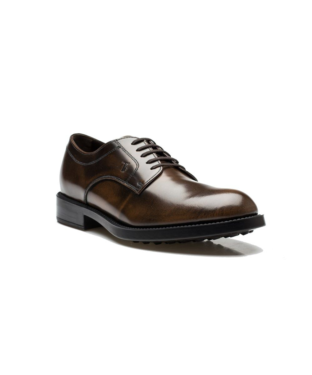 6d542cbe453 TOD'S Tod's Men's Leather Derby Liscia Esquire Giovane Oxford Dress Shoes  Brown. #tods #shoes #