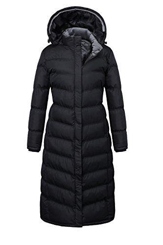 23eecaa0a U2Wear Womens Water Resistant Puffer Full Length Coat with Hood 2016 ...