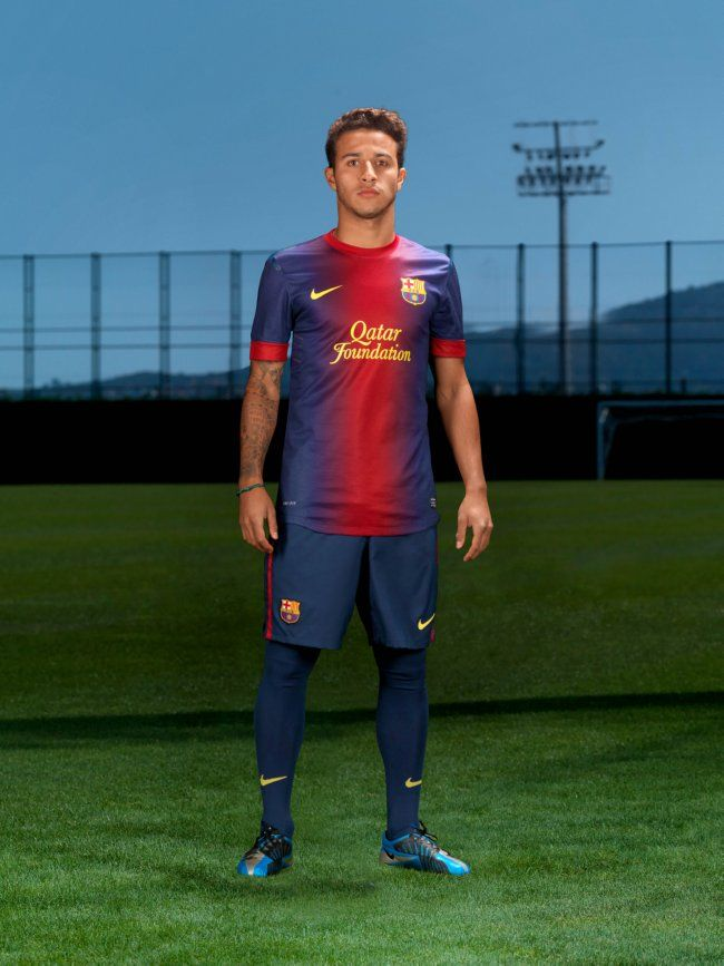 18b0547ca83 Thiago Alcantara modelling Barcelona home kit 2012-13 | The kits ...