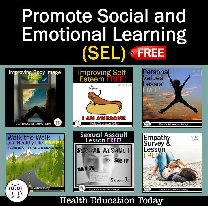 Social and Emotional Learning (SEL)   Health lesson plans ...