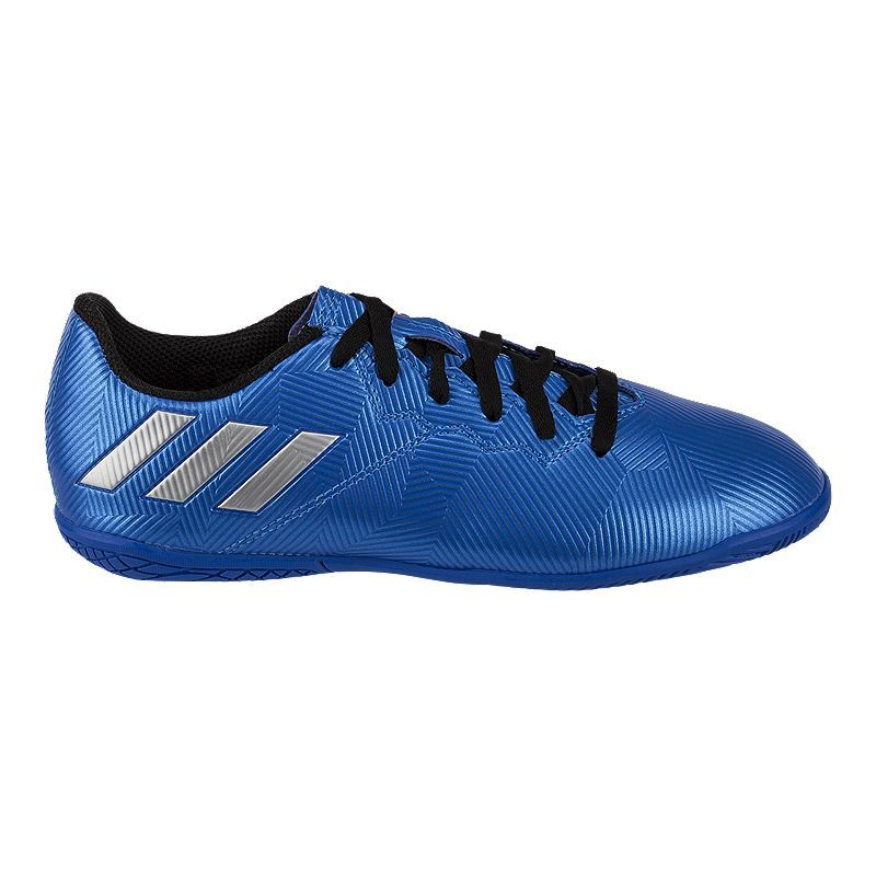 low priced 43da9 cc611 adidas Kids' Messi 16.4 IN Indoor Soccer Shoes - Blue/White ...