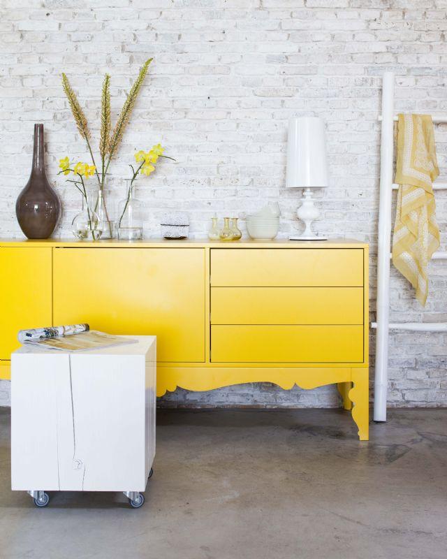 Kleurig geel nig wonen geel bruin blauw grijs for Interieur geel