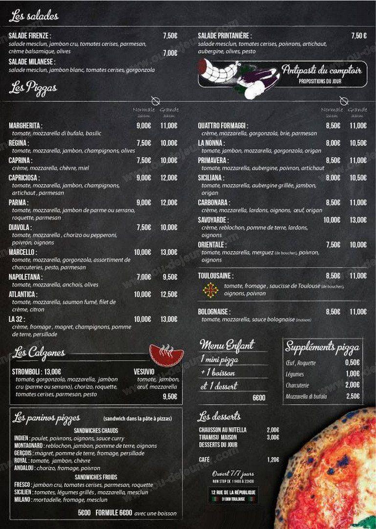 Pizzeria D Alexis A Toulouse Carte Menu Et Photos