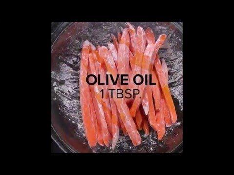 Healthy baked sweet potato fries - YouTube