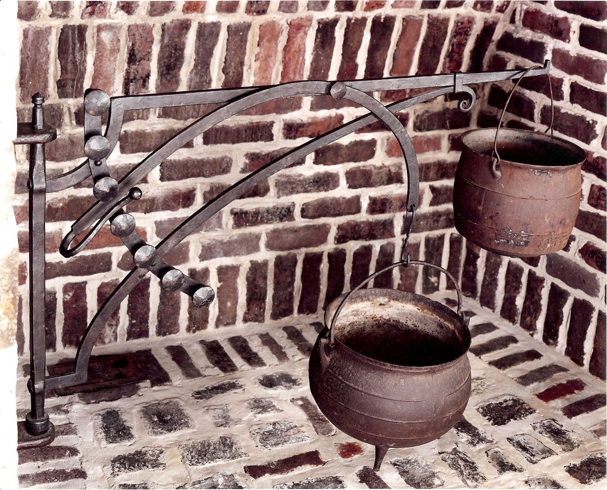 Fireplace Crane Early Cooking Utensils Blacksmithing Blacksmith Forge Metal Working