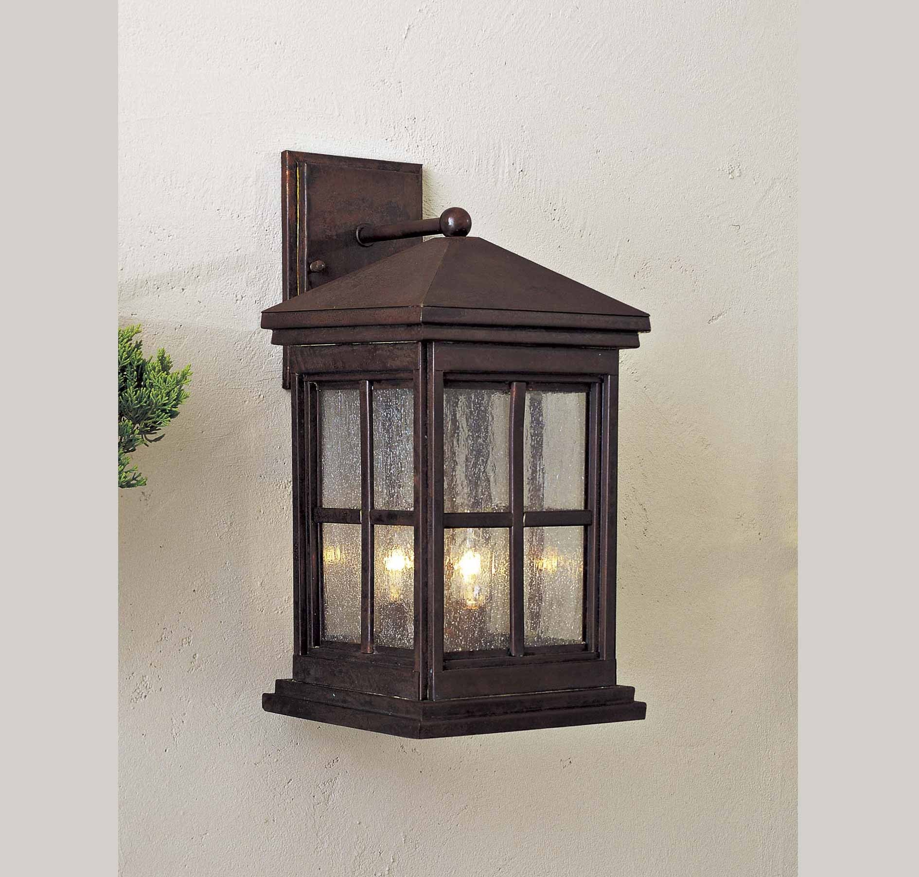 The Great Outdoors Berkeley 3 Light Wall Mount In Brands The