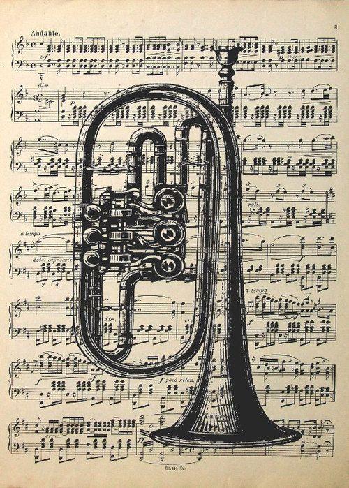 Image from http://viola.bz/wp-content/uploads/2012/10/Vintage-Ink-Drawing-on-Sheet-music-3.jpg.