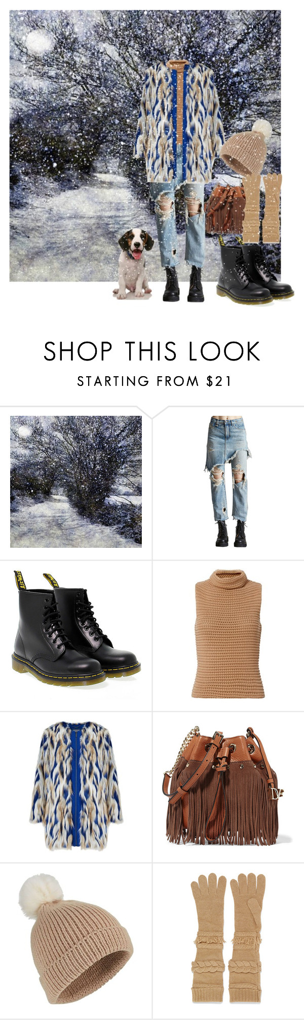 """""""Winer Walk"""" by christined1960 ❤ liked on Polyvore featuring R13, Dr. Martens, Exclusive for Intermix, Diane Von Furstenberg, Miss Selfridge and Agnona"""