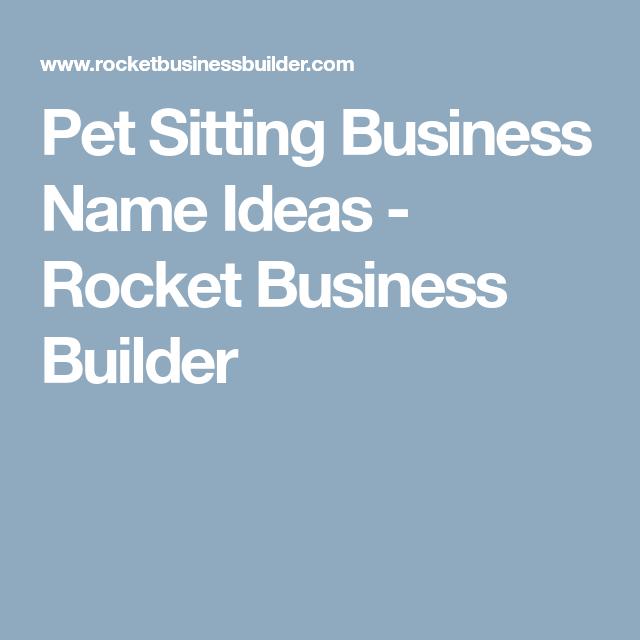 Pet Sitting Business Names Ideas | Arts - Arts