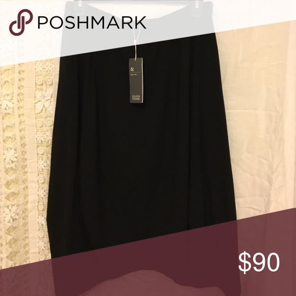 Eileen fisher lantern bl skirt med new Eileen Fisher black lantern skirt size medium Eileen Fisher Skirts Asymmetrical