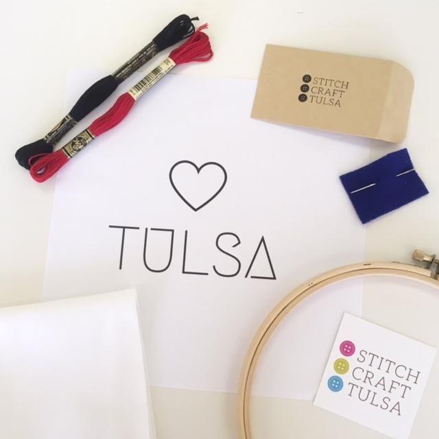 Stitch Craft Tulsa Embroidery Kit Owl Drum Local Gift Ideas