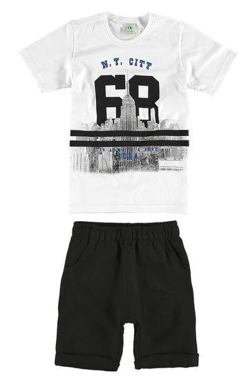 Conjunto infantil Camiseta e bermuda | Moda infantil, Roupas