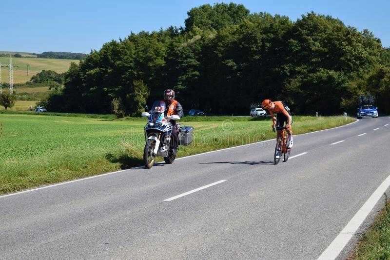 SENICA SLOVAKIA - SEPTEMBER 212019: Peloton at Tour de Slovakia on September 2 #AD #Peloton