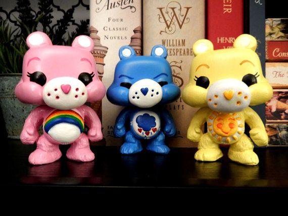 Set Of Custom Care Bear Funko Pops By Houseofmousedesigns On Etsy Take My Money Custom Funko Pop Figurine Funko Pops