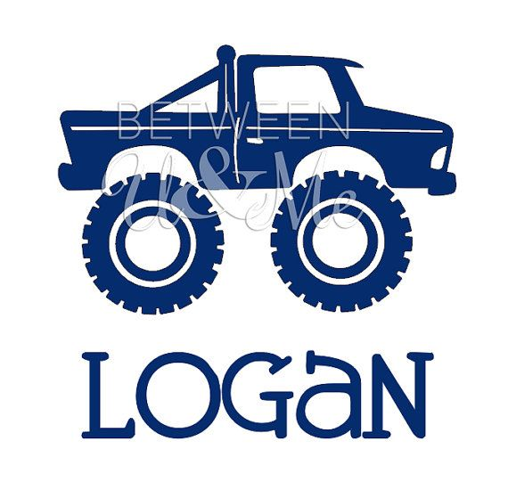 Personalized Monster Truck Iron On Decal Vinyl For Shirt Monster Trucks Monster Truck Party Truck Party