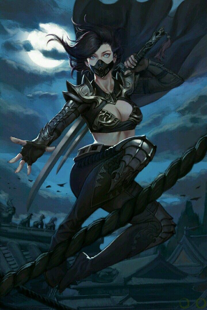 Night caste solar exalted exalted fantasy art fantasy - Anime female warrior ...