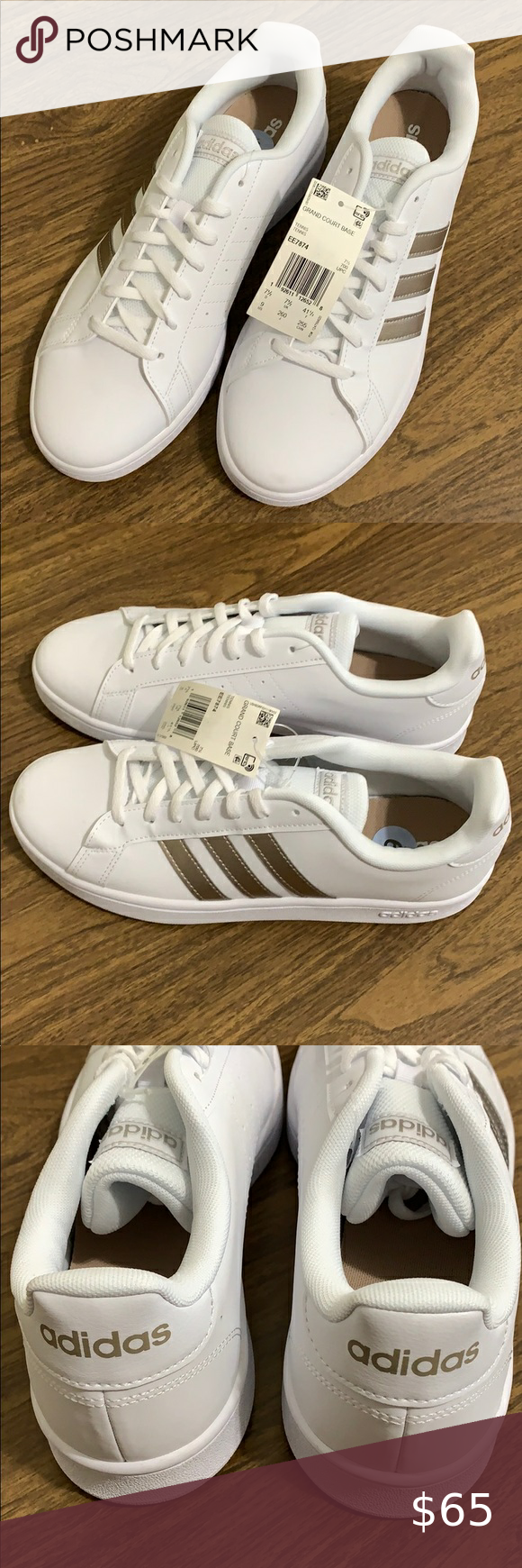 Adidas Women S Tennis Grand Court Base Sz 9 In 2020 Adidas Women Womens Tennis Casual Sneakers