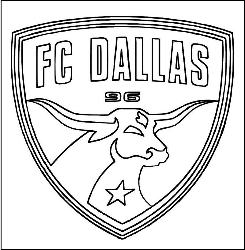 Soccer Logo Club Coloring Pages For Kids And Adults Sports