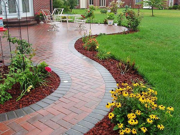 Garden edging black plastic ideas with how install for Patio edging ideas