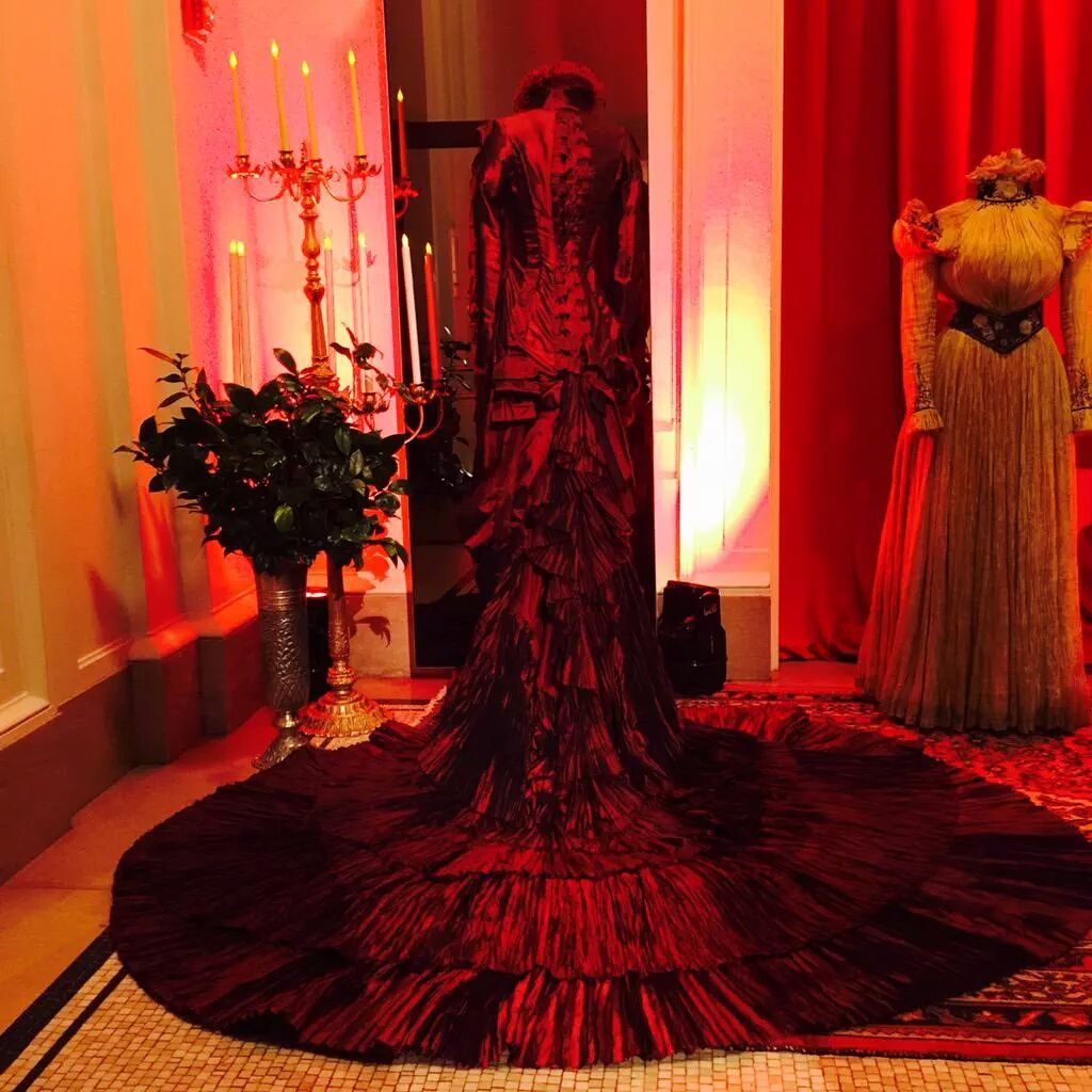 Crimson Peak costumes on display at the Premiere after party ...