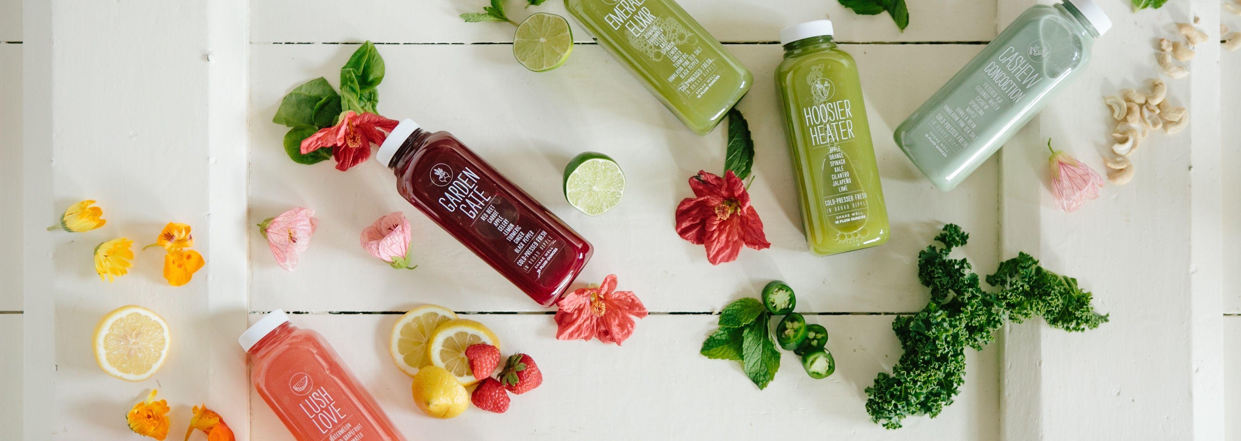 Juices - The Garden Table  Fresh Juicery in Broad Ripple  Garden