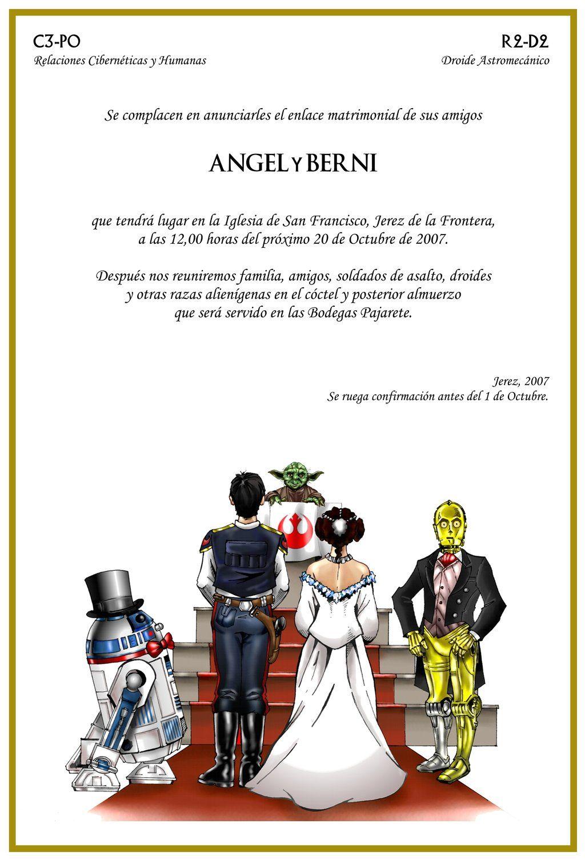 5 Star Wars Wedding Card by angelsaquerodeviantartcom To call