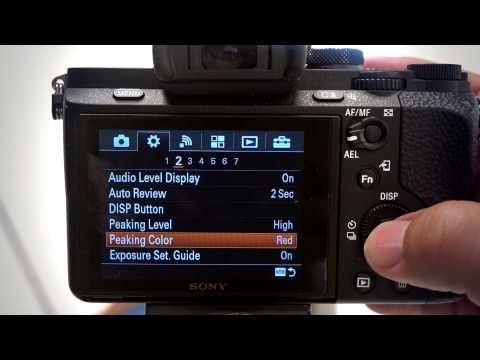Manual Focus Tools Mf Assist And Peaking Levels On Sony Cameras Sony Camera Sony Manual Focus
