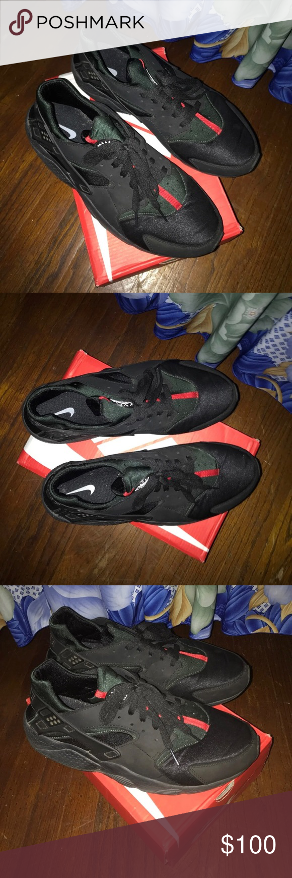 9ab587885822 Customized Nike Huaraches Shoes (Gucci) NIKE HUARACHES (GUCCI CUSTOMED) -  message me