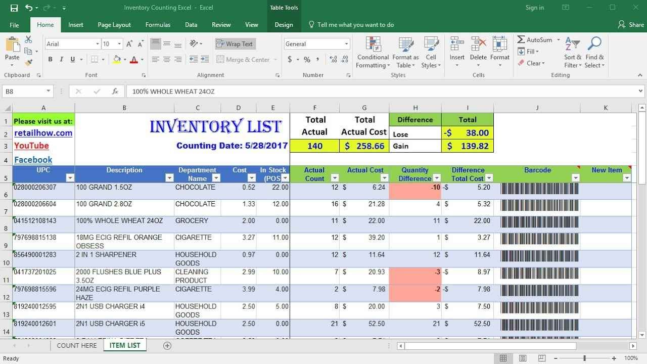 Free Excel Inventory Database Template in 2020 | Templates ...