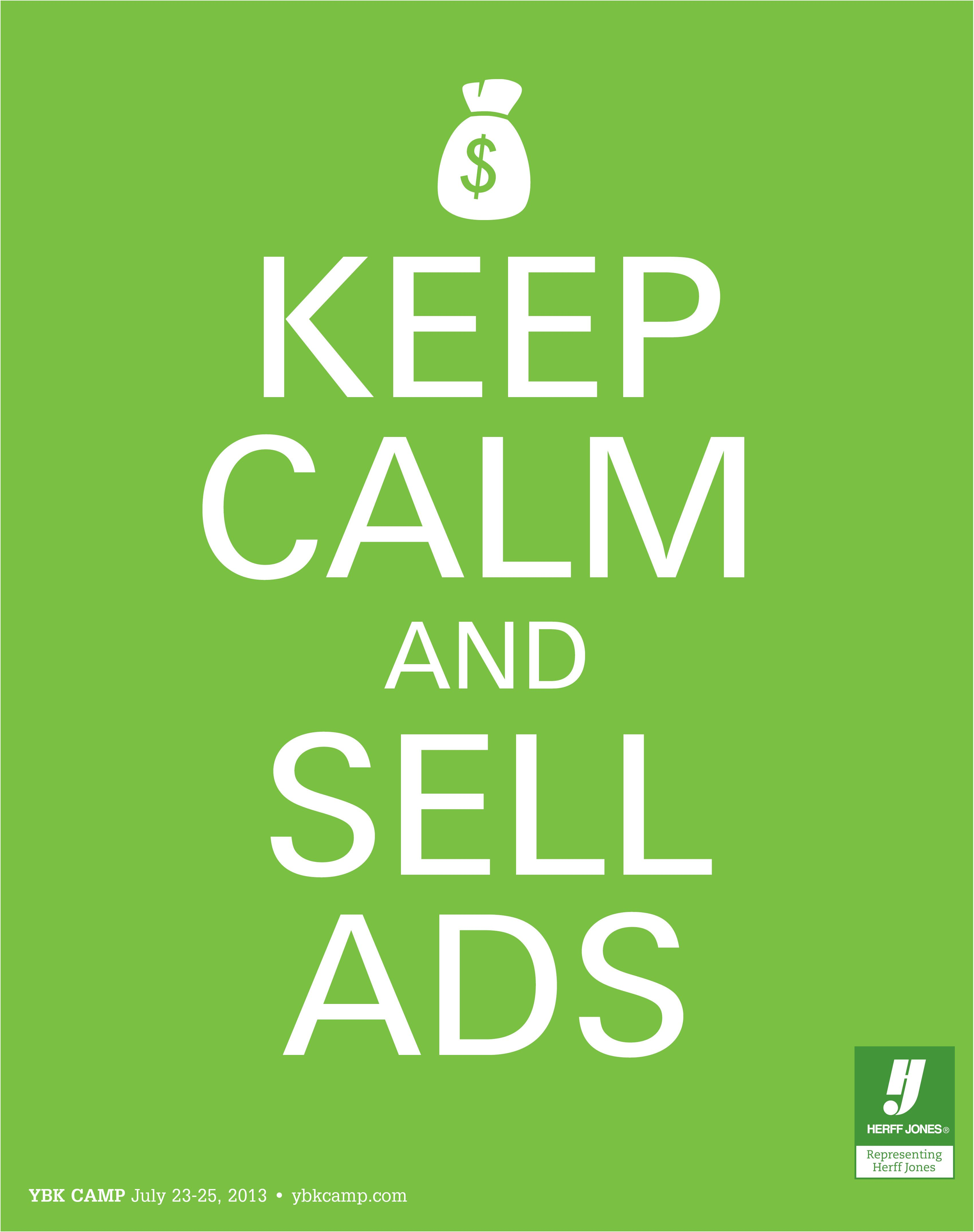 Keep calm and sell ads save the date for the summer ybk camp