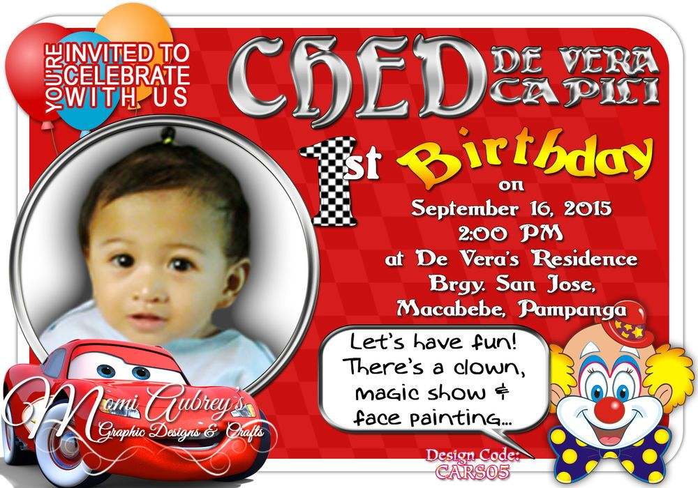 Cars Invitation Card Template Free: Personalized Invitation Card Design (Cars) #AnyOccasion