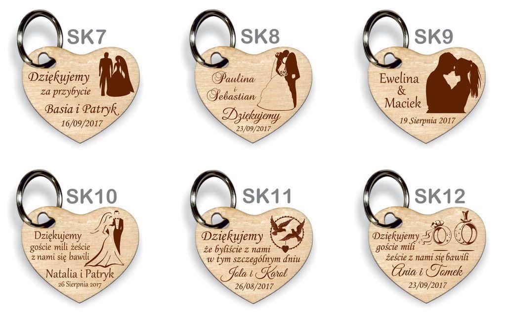 Podziekowanie Dla Gosci Wesele Slub Serce Brelok K Gifts Wedding Save The Date