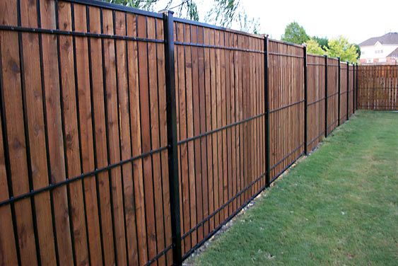 Dallas Fence And Gate Gallery Custom Cedar Iron And Chain Link Fortress Iron Fence Wood Fence Design Wood Privacy Fence