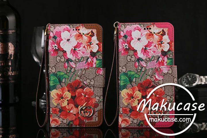 a732b18696 花柄グッチ可愛いiphone7 iphone7plusケース ブランド Gucci iphone6s/6ケース手帳型 アイフォン