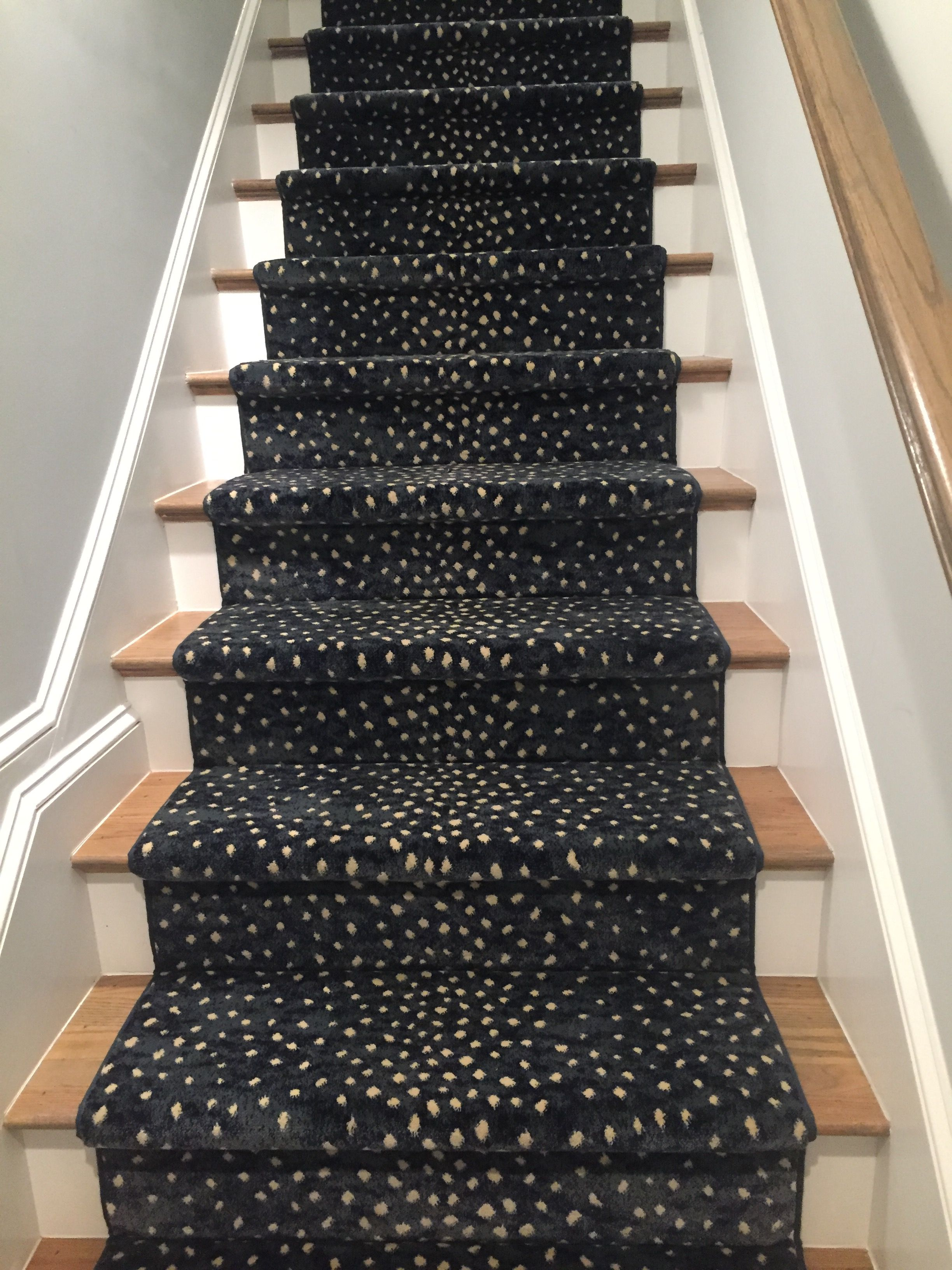 Mill Prestige Style Derning Color Blue Diy Carpet Stair | Printed Carpet For Stairs | High Traffic | Gray | Karastan Patterned | Georgian | Middle Open Concept