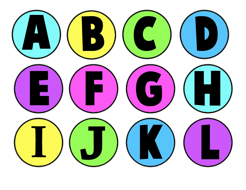 need a alphabet letters to print | Making a Memory Game from ...