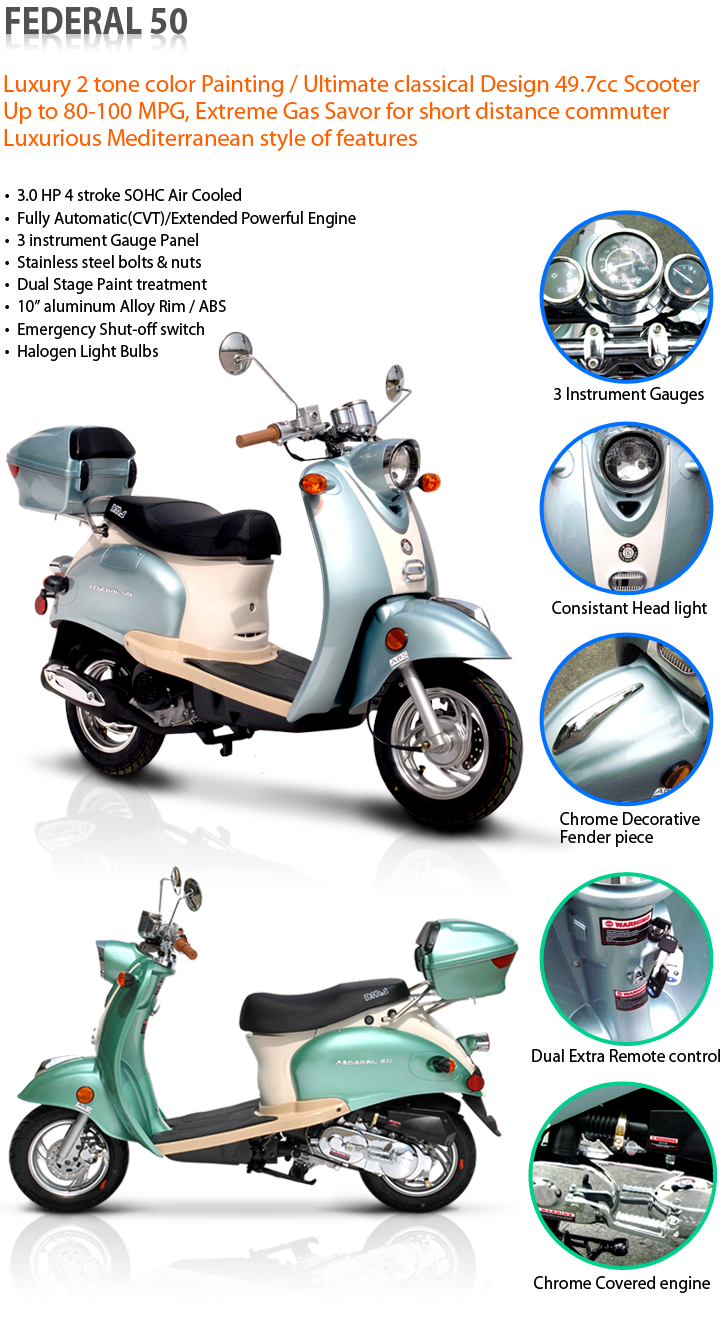 Bms 50cc Federal Gas Scooter Moped My Mode Of Transport Until The