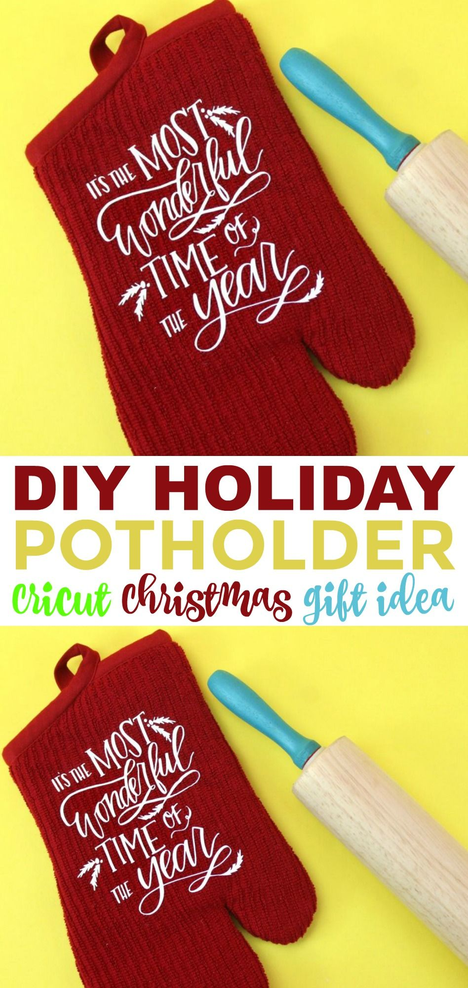 Diy Holiday Potholder Cricut Christmas Gift Idea A Little Craft In Your Day Diy Holiday Diy Cricut Simple Holiday Gifts