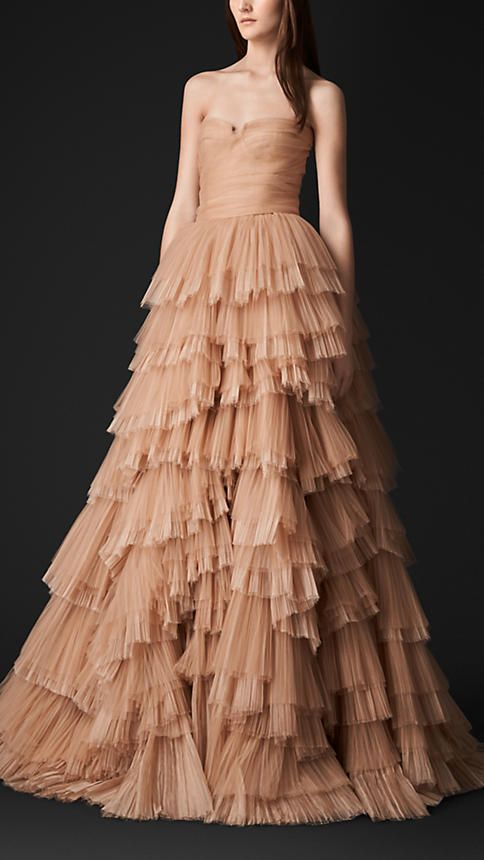 7c69a2d891c0 Tulle and Silk Organza Bustier Evening Gown   Burberry .  Burberry  gowns