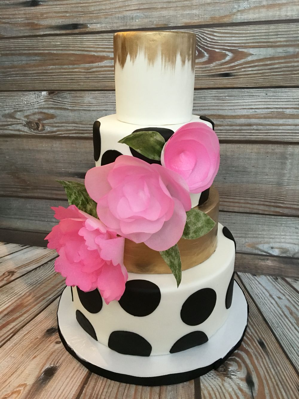 Kate spade inspired cake made by something sweet by flo black and kate spade inspired cake made by something sweet by flo black and white cake wafer dhlflorist Image collections