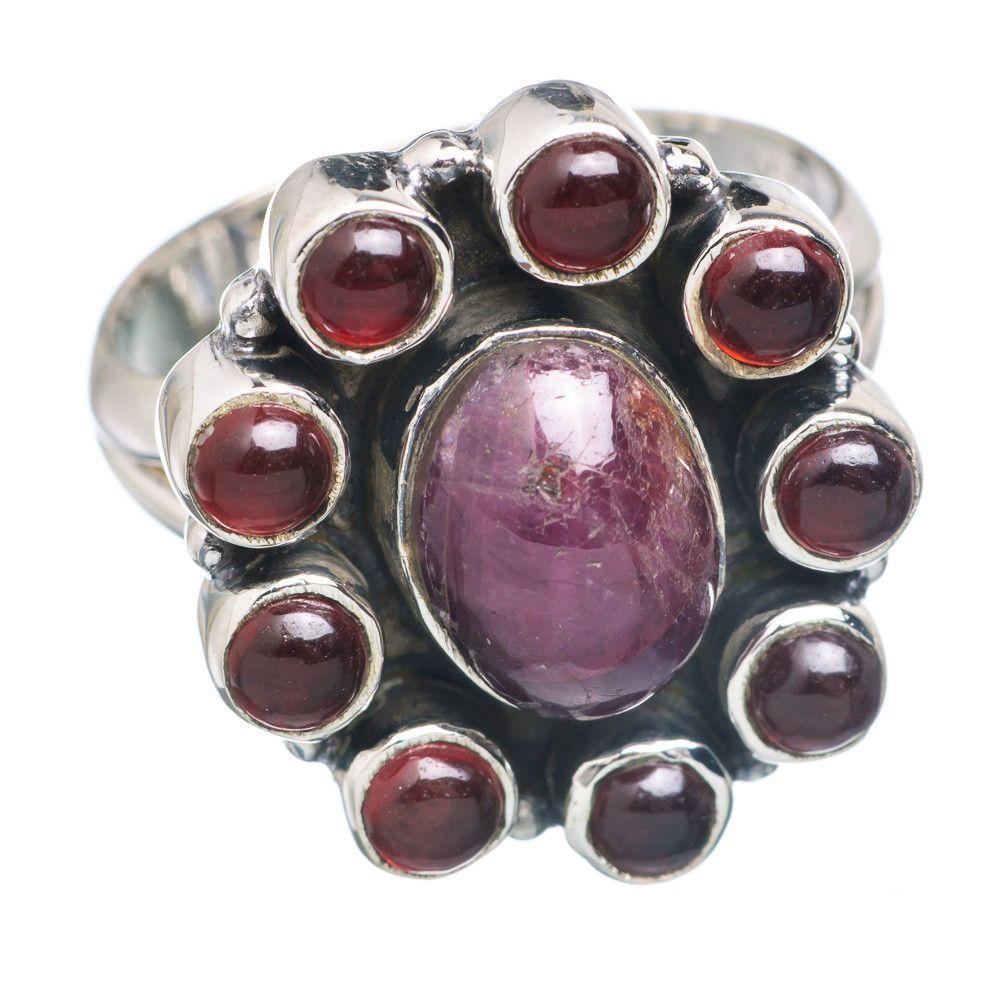 Star Ruby, Garnet 925 Sterling Silver Ring Size 8.25 RING714706