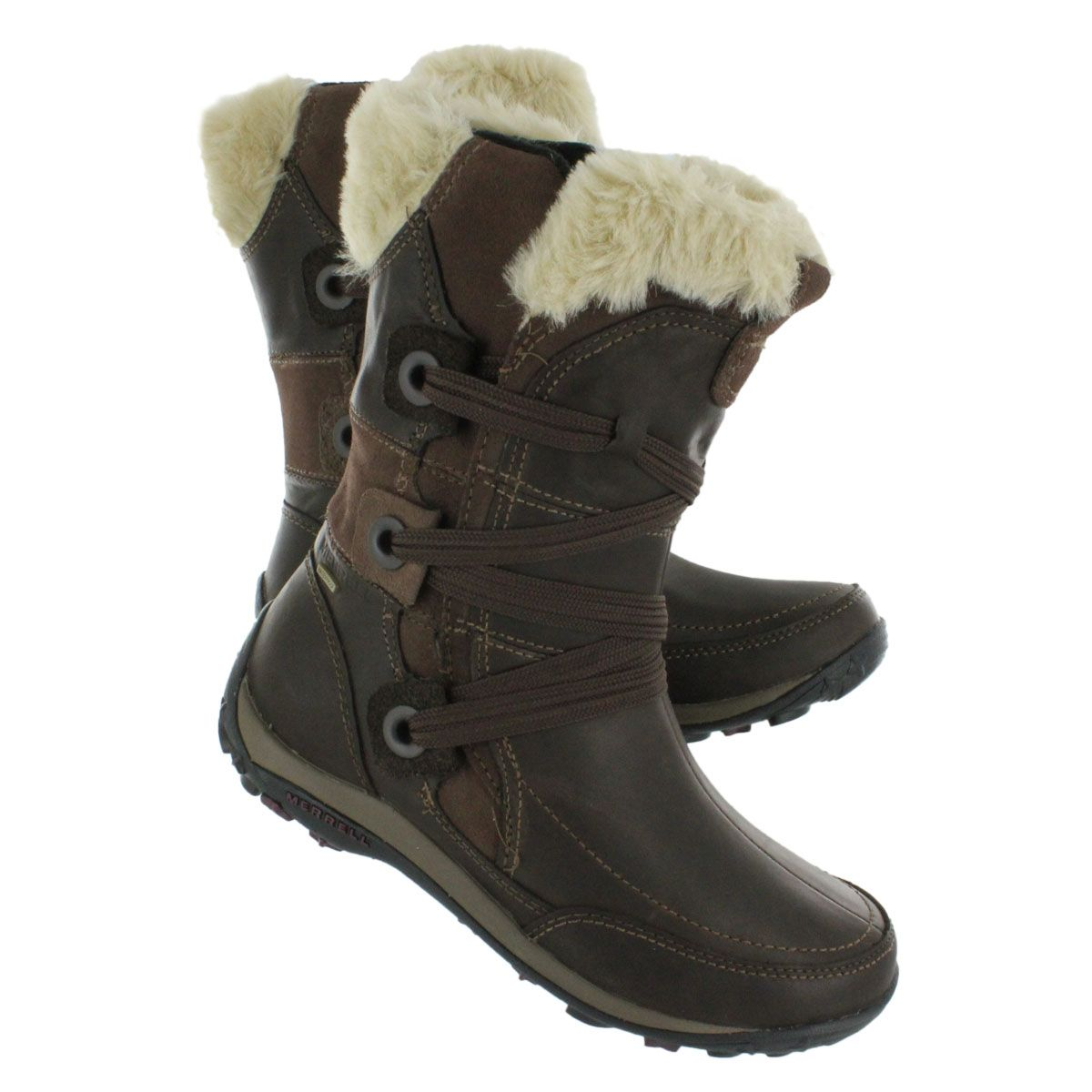 7f540276a39f8 Merrell Women's NIKITA waterproof chocolate winter boots 55888 ...