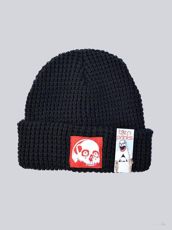 186dcf02385 Skull Beanie By Ben Prints On Etsy Knit Beanie