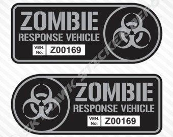 *Description:  Deep Inside We All Want A Zombie Apocalypse Door Vinyl Sticker / Decal